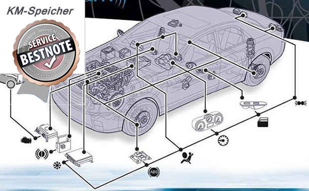 Tachoeinstellung am Aston Martin mit allen Speichern